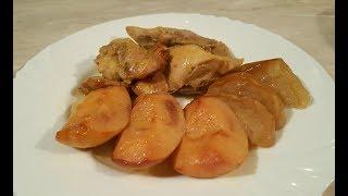 Курица с айвой и яблоками в духовке. Низкокалорийное праздничное блюдо!