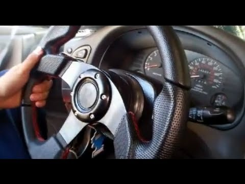 How To Install A Steering Wheel With Horn Youtube
