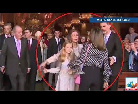 Doña Sofía es humillada en público por la Princesa Leonor y desplante de la Reina Letizia Video