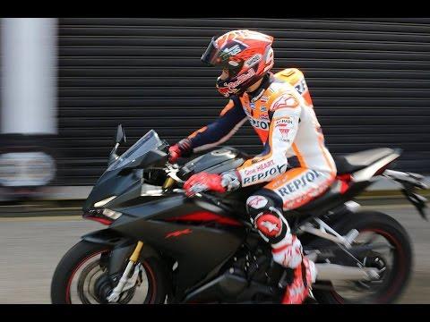 All New CBR250RR Demo Riding by Marc Marquez & Dimas Ekky at Sentul Circuit 2016