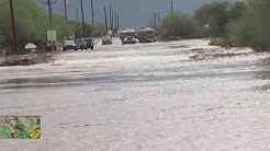 Water rescue for 2 people caught in Apache Junction wash