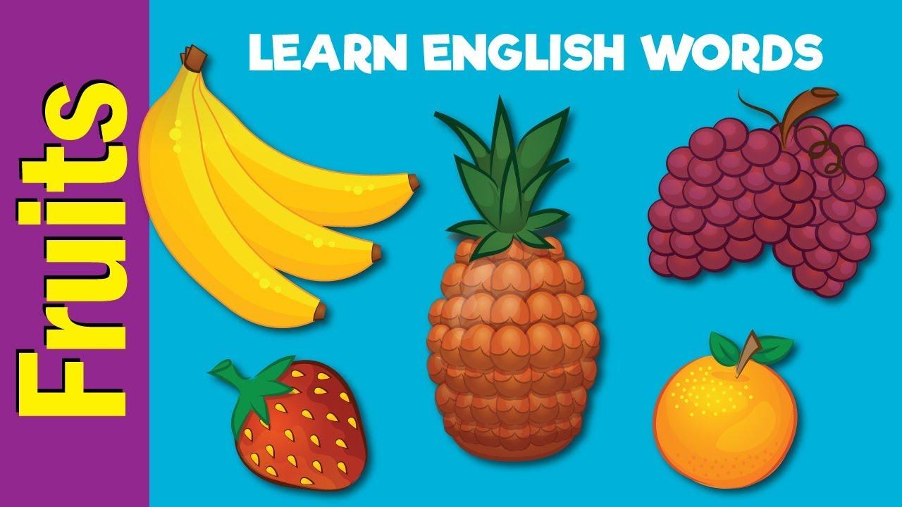 Fruit Names | Video Flash Cards | Kindergarten, Preschool, ESL for ...