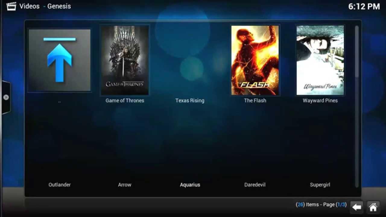Download Genesis Review addon on KODI/XBMC