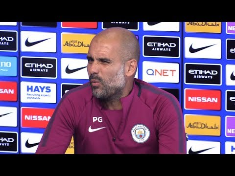 Pep Guardiola Pre-Match Press Conference - Chelsea v Manchester City - Embargo Extras