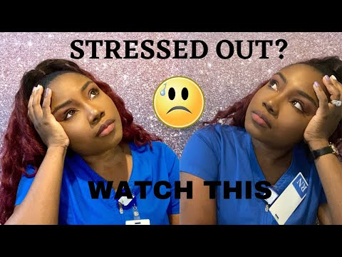 How to reduce stress during nursing school💆🏾‍♀️🧖‍♀️