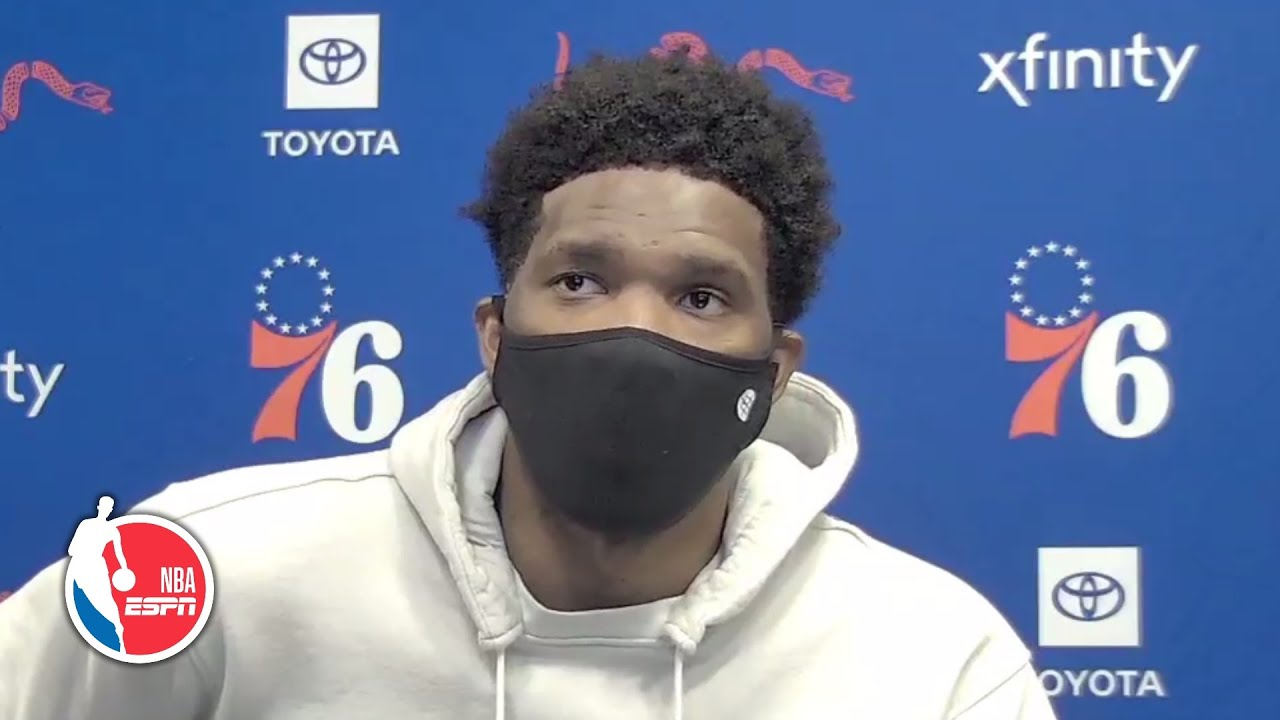 Joel Embiid reacts to scoring career-high 50, talks saluting absent fans | NBA on ESPN