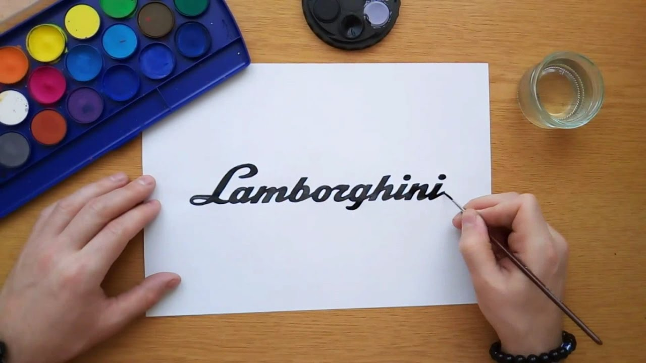 How To Draw A Lamborghini Logo Car Logos Youtube