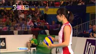 Montreux Volley Masters 2011 Semifinal China 0x3 Japan Set2