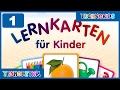 Немецкий для детей | Учим немецкие слова | Карточки на немецком №1 - Алфавит - Цифры - Цвета