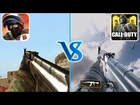 Call Of Duty Mobile Vs Bullet Force - Weapon Comparison