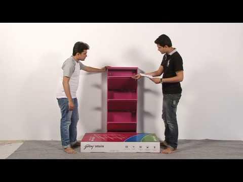 Godrej Interio STEP IN Shoe Cabinet Installation Video