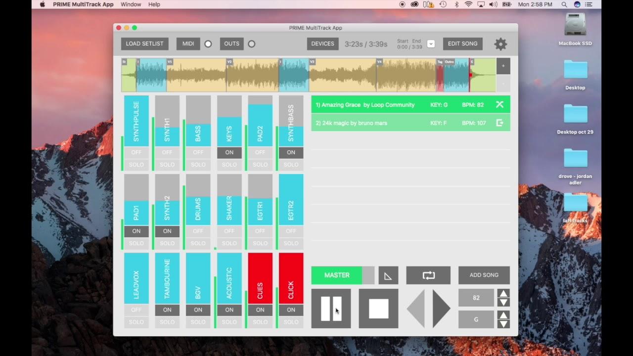 PRIME MultiTrack backing tracks APP | Custom Backing Tracks