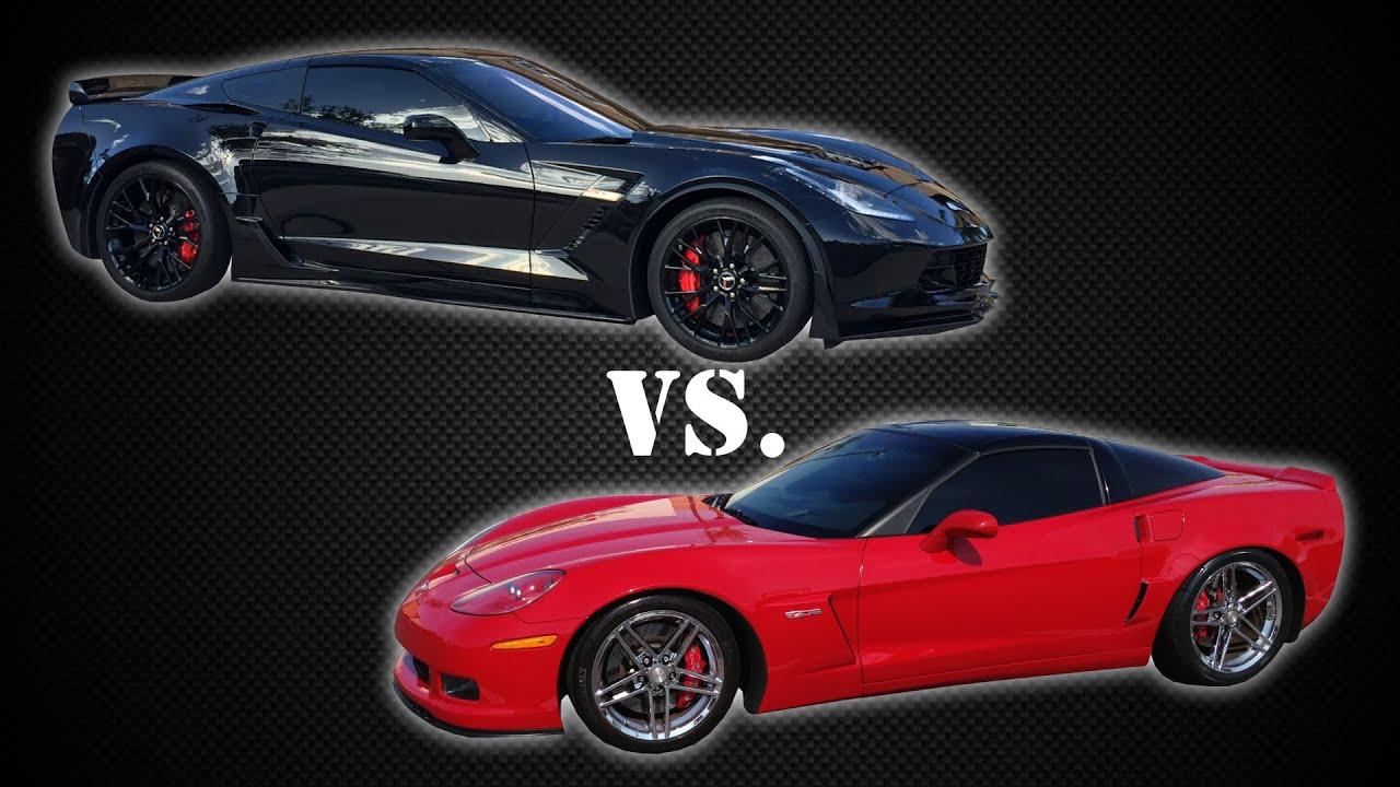 supercharged 2006 c6 corvette z06 vs stock 2015 c7 z06. Black Bedroom Furniture Sets. Home Design Ideas