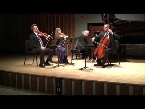 Richard Faith's Divertimento for two violins, cello, and piano