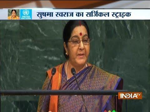 While India made IITs, IIMs, Pak created terror factories: Sushma Swaraj at UNGA