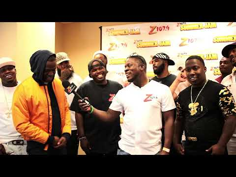 DJ Steph Floss and friends at z1079 summer jam 2017 backstage Interview