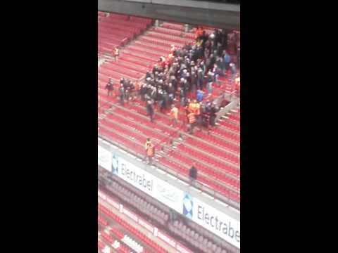 ME bij Standaard Luik - Feyenoord