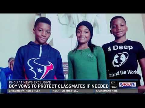 Mom speechless after young son volunteers to protect classmates during shooter drill thumbnail