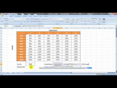 2 Way Lookup in Excel with Index And Match Formula