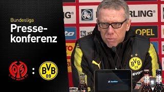 Pressekonferenz mit Peter Stöger nach dem 2:0-Auswärtssieg   1. FSV Mainz 05 - BVB