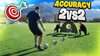 2 VS 2 SFIDE DI PRECISIONE - FOOTBALL CHALLENGE w/ENRY LAZZA & T4TINO23 VS TEAM SG SOCCER