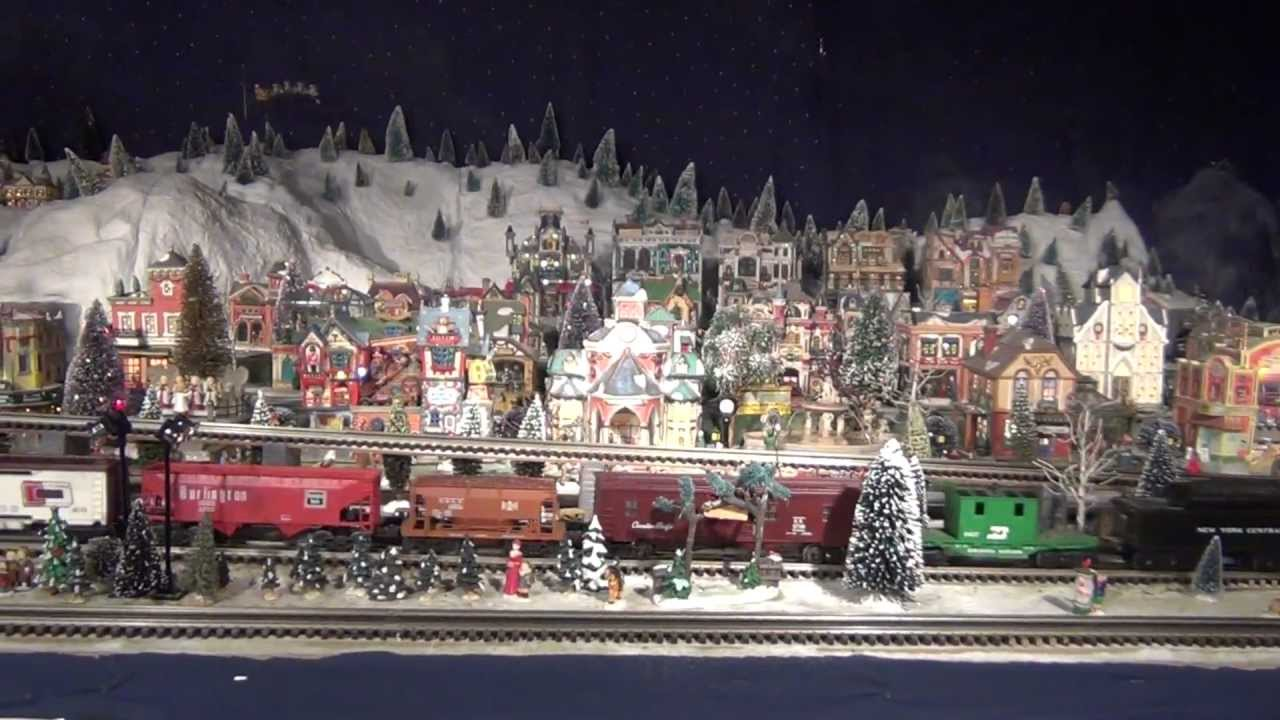 Christmas Village With Train Set