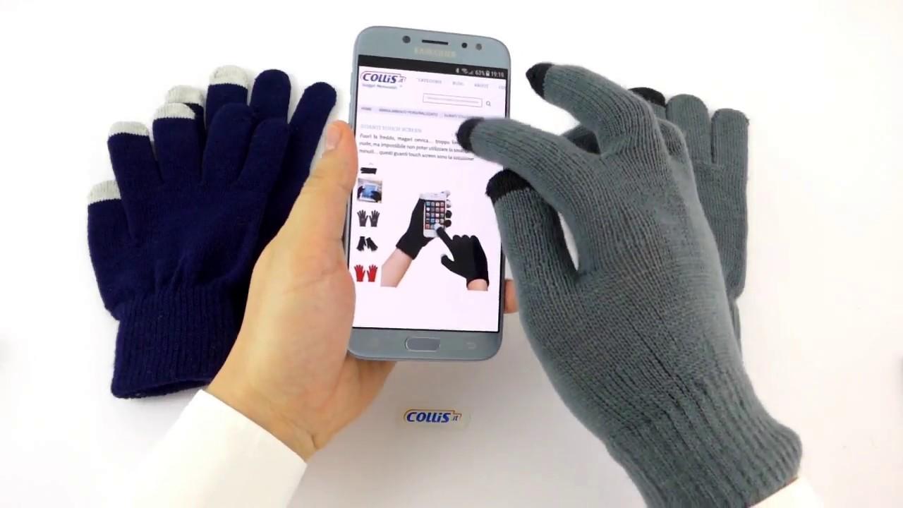 Guanti touchscreen personalizzati  05e188b1fd59