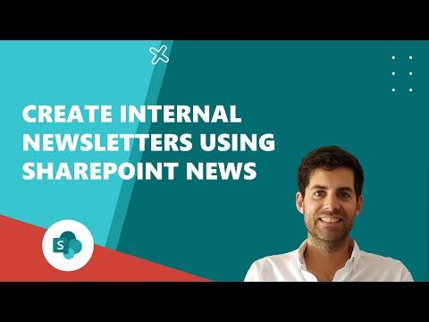 Create internal newsletters using SharePoint News