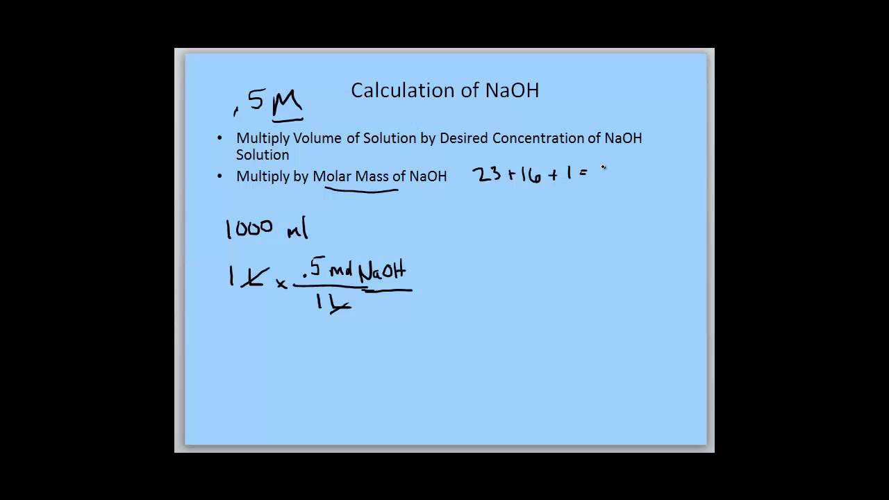 0.5 M NaOH Solution - YouTube