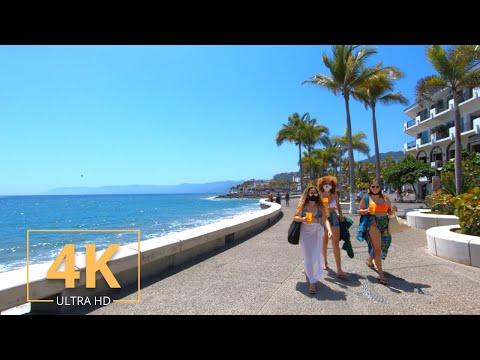 Puerto Vallarta, Jalisco   Mexico   Virtual Walking   4K   Street Walk   City Tour   Beach   2021