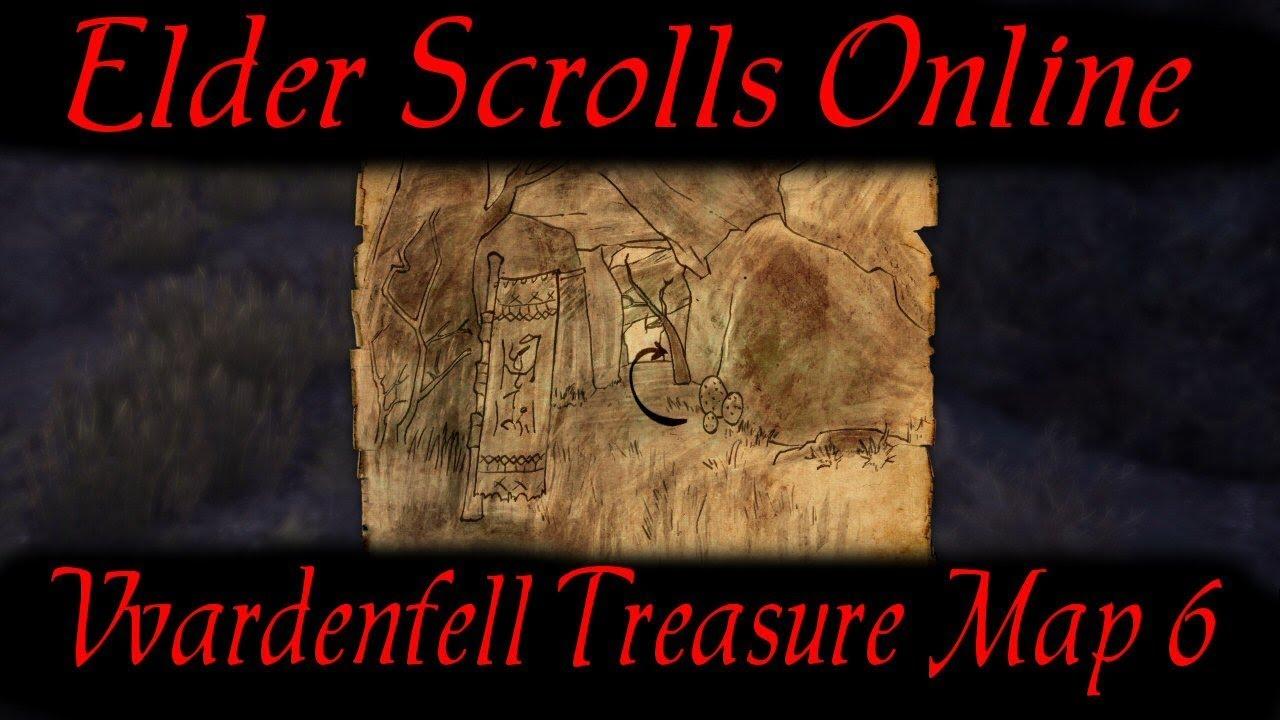 Vvardenfell Treasure Map 6 [Elder Scrolls Online] ESO - YouTube