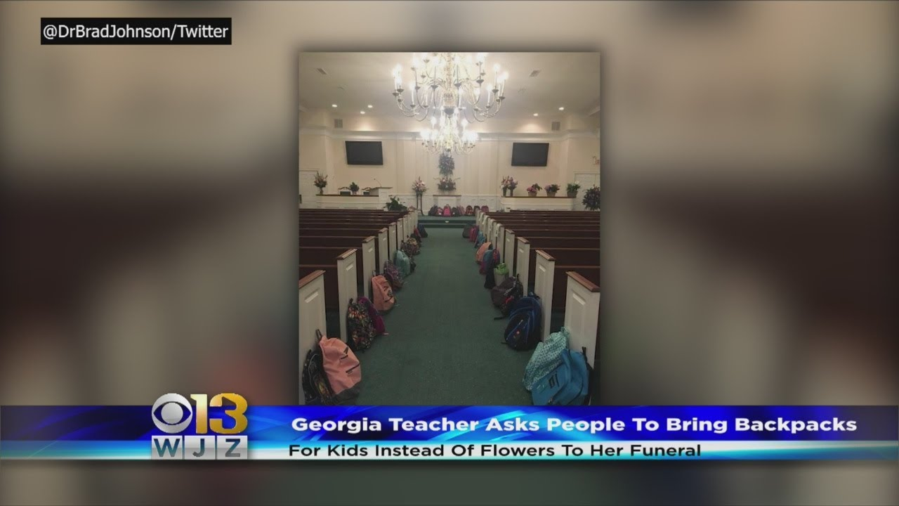 Teachers Last Wish In Lieu Of Flowers Bring School Supplies For