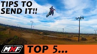 Top 5 Tips on How to Jump a BIG JUMP - SENDING IT on Your Dirt Bike!!