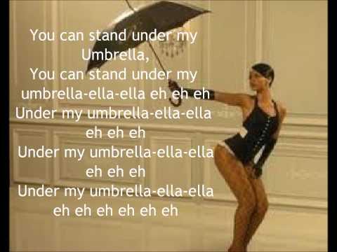 Rihanna  Umbrella With Lyrics