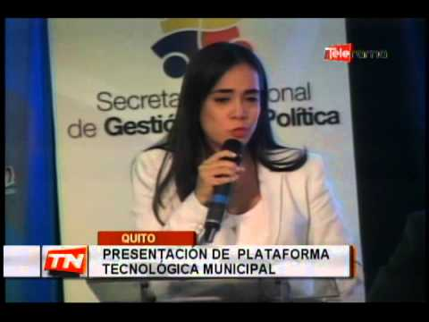 Presentación de Plataforma tecnológica Municipal