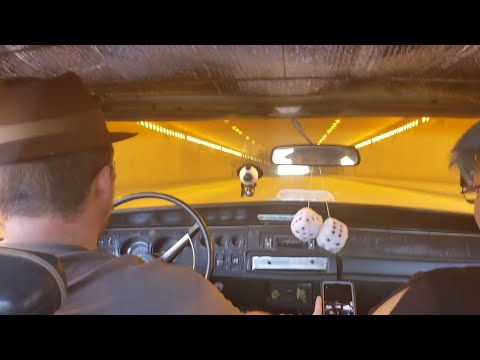 1968 Dodge Charger R/T Driving Through a Tunnel