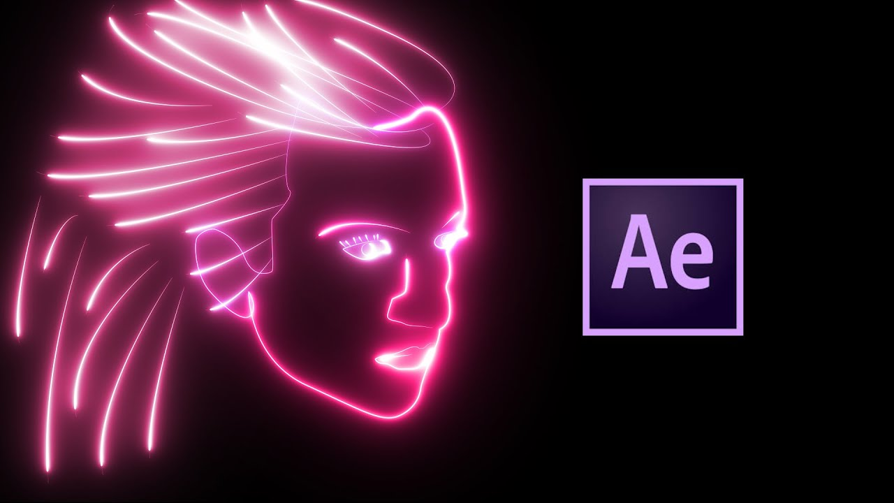 Neon Face Animation Tutorial with VideoCopilot SABER