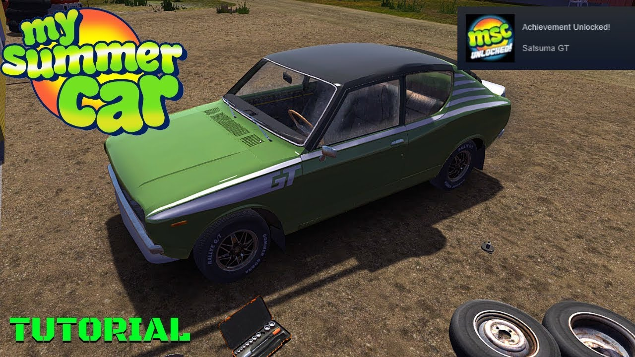 Satsuma Gt Achievement Vehicle Preparation Tutorial My Summer Car 177 Radex