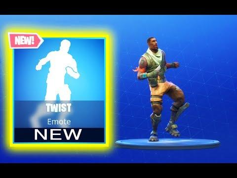 *NEW* -  TWIST EMOTE DANCE - IN GAME - FORTNITE BATTLE ROYALE - SEASON 5