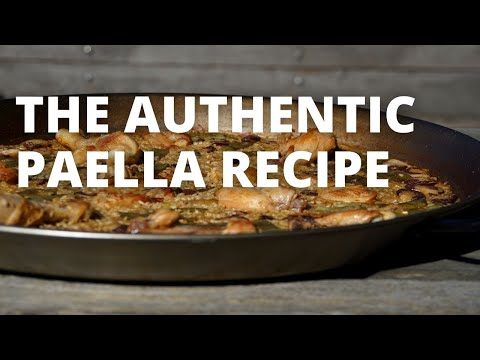How To Make Authentic Paella Valenciana // The Recipe for real Athentic Paella