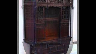 Chinese Antique Meditation Shrine Cabinet With Coffer Base _rb1010x.wmv