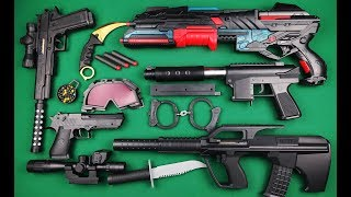 Special Forces Toy Guns and Weapons !! Aug Rifle Nerf Shotgun and Beaded Pistols Video