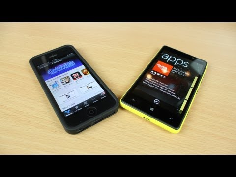 Windows Phone 8 store vs. iOS App Store