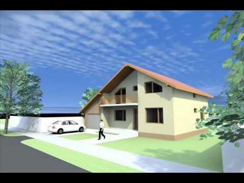 Proiecte case parter si mansarda modele case for Youtube case cu mansarda