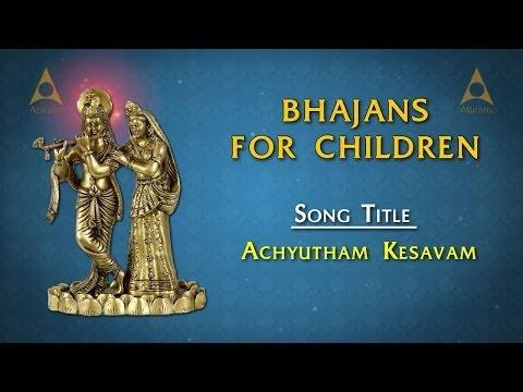 Achyutham Kesavam (Krishna) Song With Lyrics | Sanskrit Slokas for Kids