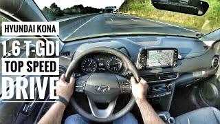 Hyundai Kona 1.6 T GDI (2019) - POV Drive on German Autobahn - Top Speed Drive