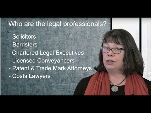 Who Are The Legal Professionals? (Routes Into Law)