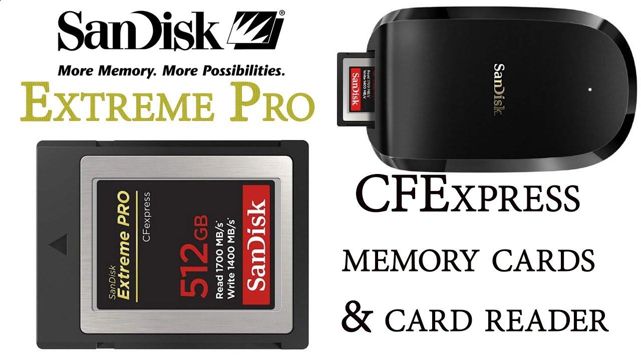 SanDisk Extreme Pro CFExpress Memory Cards & Card Reader