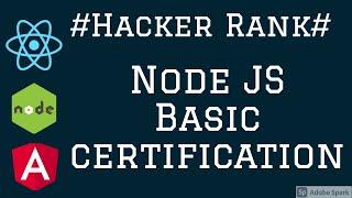 HackerRank Node JS Certification Basics  Recipe  problem #01