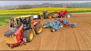 Versatile 405 & JCB Fastrac 8330 | Cultivating & Planting | Unique en Belgique 🇧🇪